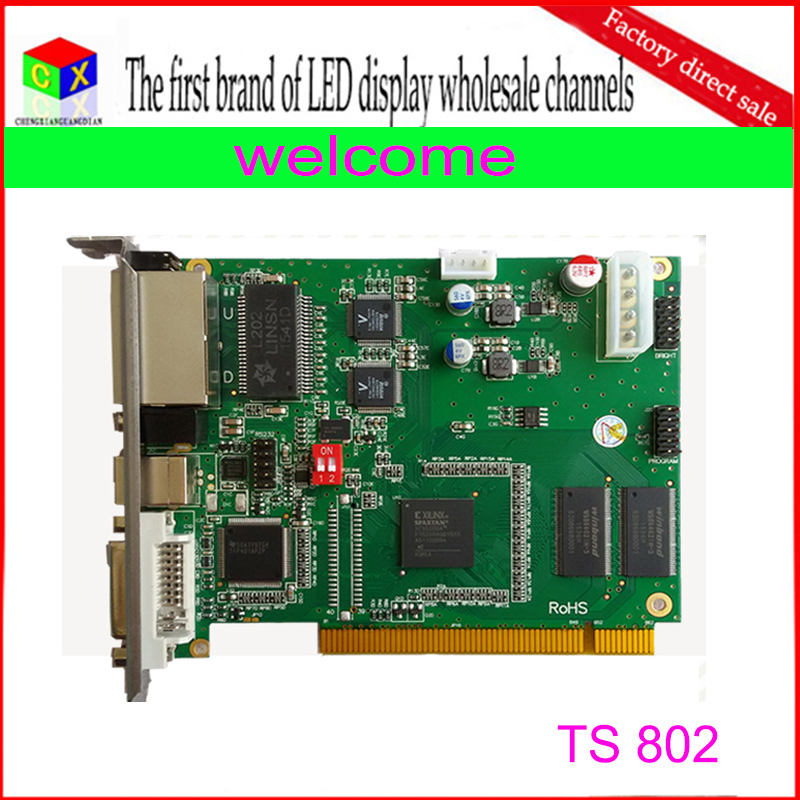 Free Shipping Wholesale TS802 Rgb Full Color Synchronous Led Display Controller Linsn Sending Card