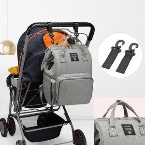 Image 5 - LEQUEEN USB Interface Diaper Bag Large Capacity Waterproof Fashion Mummy Travel Shop Maternity Nursing Backpack Nappy Organizer