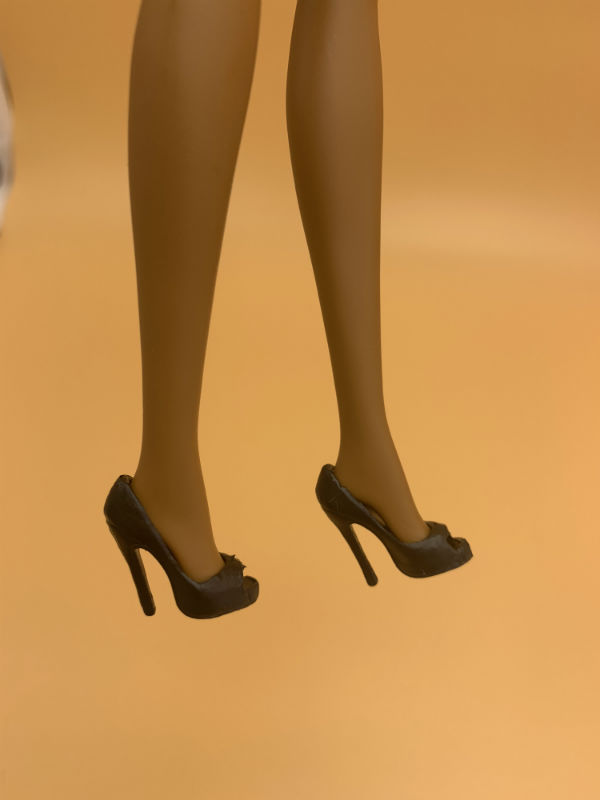 Topupyou <font><b>doll</b></font> toy black high heel <font><b>shoes</b></font> for barbie <font><b>dolls</b></font> Topup16 image