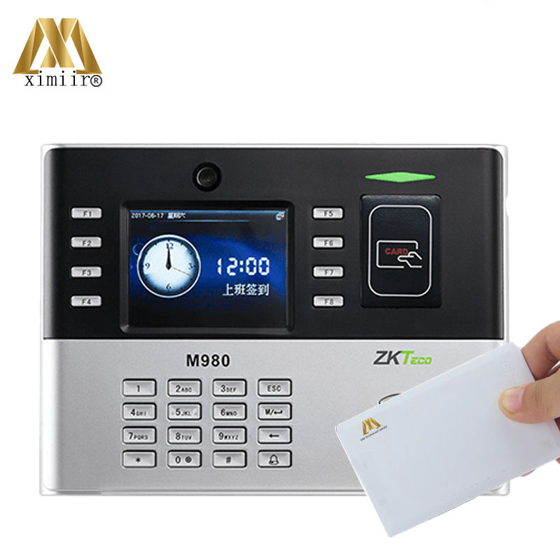 Biometric Card Time Attendance Machine ZK M980 Time Clock With 13.56MHz IC Card Office Time Recorder