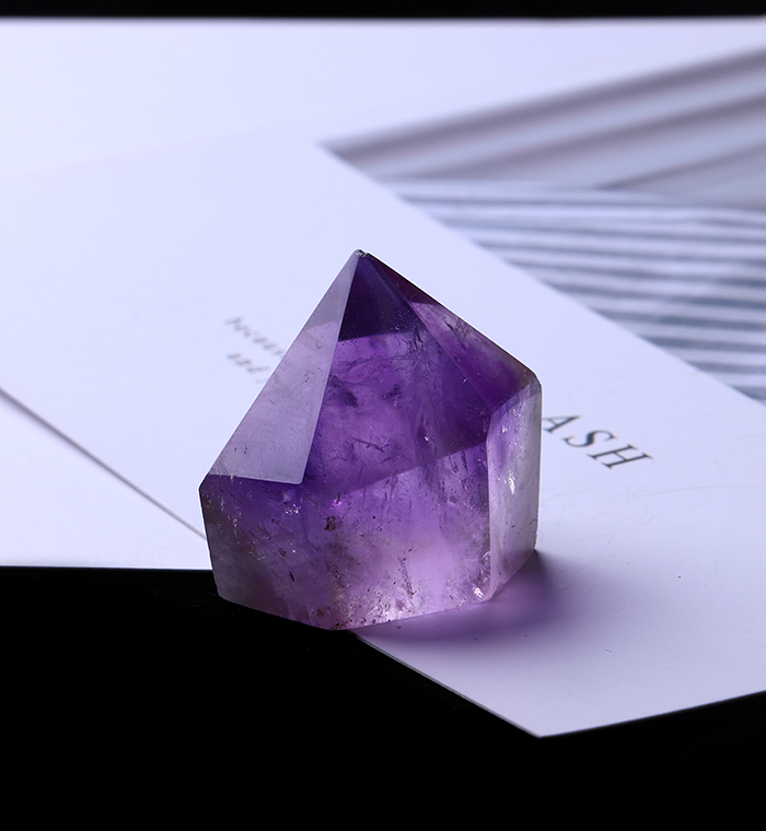 1PC Natural Amethyst Wand Quartz Crystal Repair Crystal Stone accessories Home Decor 20