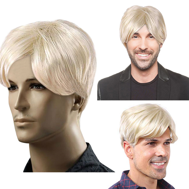 Wig Fashion Women s Fashion Blonde Short Wigs for Men Trump Wig Man Male  Blonde Good Wigs dropship Jan29-in Styling Accessories from Beauty   Health  on ... a6f6aa9c1
