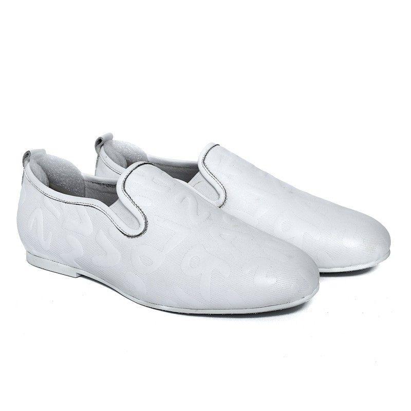 Mâle Appartements Mycolen Chaussures Casual Luxe gêne Souple De Blanc Mocassins Cuir Marque En Sans Véritable Hommes qwPSWq6Tf