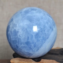 80mm natural blue celestine Crystal Sphere Ball from Madagascar for sale