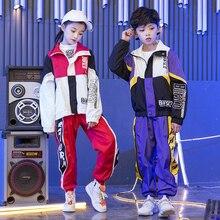 Niños Jazz tambor danza rendimiento traje Street Dancing ropa las muchachas  del muchacho de la manga Hip Hop deporte Set Tops pa. 251b2ddcae1