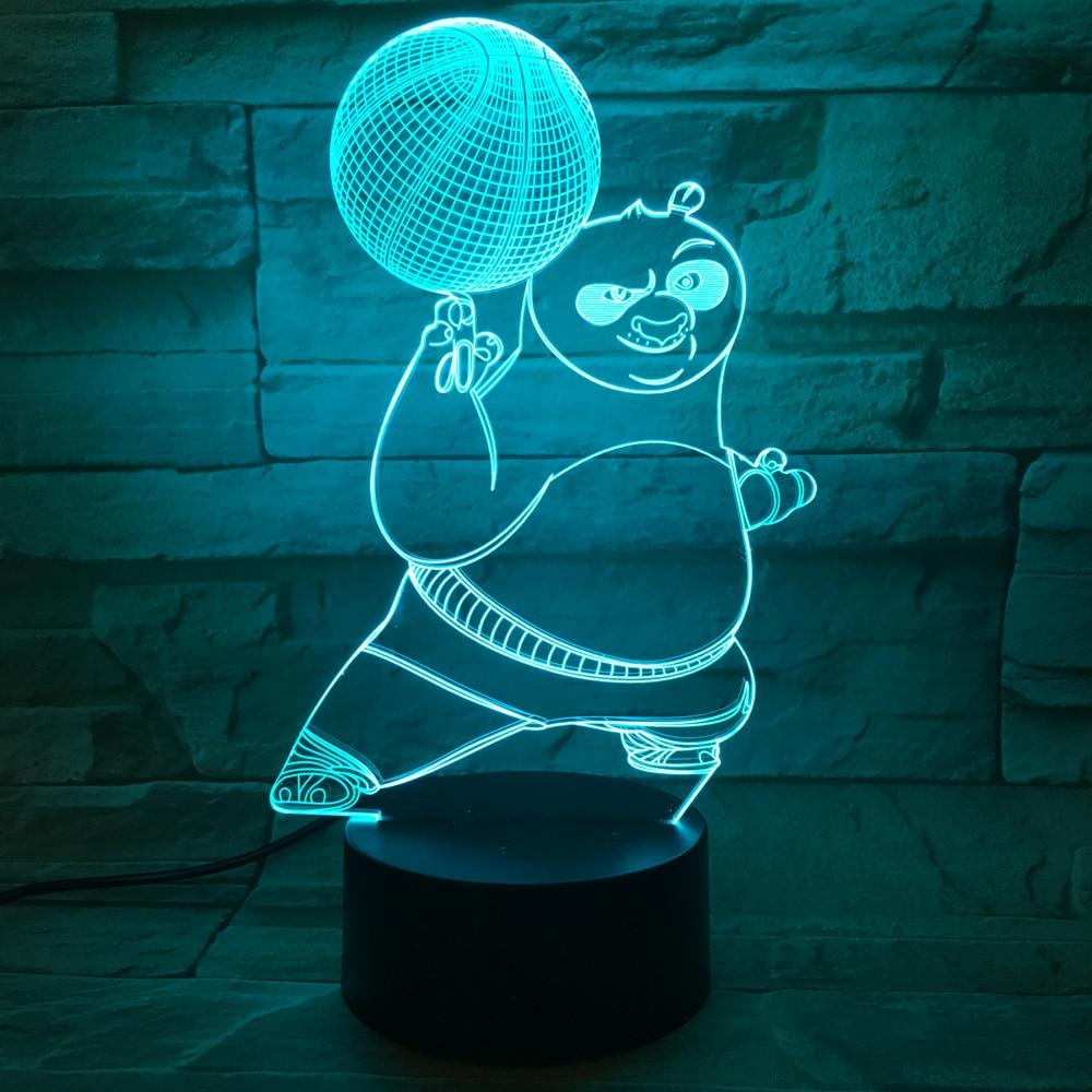 Kungfu panda nightlight for children decorative 3d Unique nightlights for kids