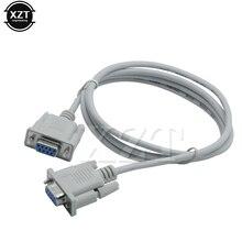 Alta calidad serie RS232 9 Pin hembra a hembra DB9 9-Pin Cable de extensión/convertidor para PC