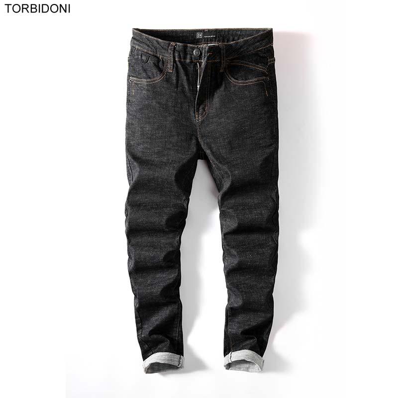 Men Brand Casual Jeans Streetwear Black Denim Jeans New Fashion Male Denim Pants Trousers Classic Slim Pencil Jeans Masculina