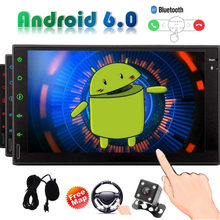 Double Din Stereo 7 inch Car PC Multimedia Quad-core Player Support Car GPS Navigation Mirror Link 4G WIFI USB SD with Touch Pen(China)