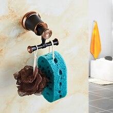 Ganchos de Bata orbe y Color oro rosa ropa ganchos en la pared latón elegante accesorios de baño Vintage 5501