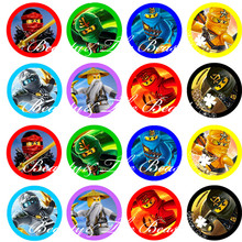 Ninjago Stickers, Ninjago Cupcake Toppers,Birthday Party Decorations kids Sticker Label for Birthday,Baby Shower Party supplies(China)