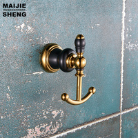 Golden hooks bathroom Robe Hook,Clothes Hook,Solid Brass Construction luxurt Golden bath hardware accessory home wall hooks
