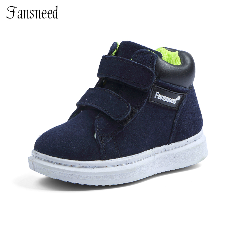 Brand new genuine leather uppers shoes single boys and girls casual shoes boots child boots baby shoes
