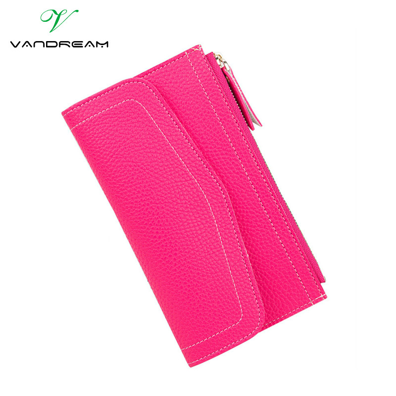 Slim Pu Leather Women Wallet Female Long Clutch Fashion Zipper Women Purse Phone Card Holders Girls Portefeuille Femme Portfolio