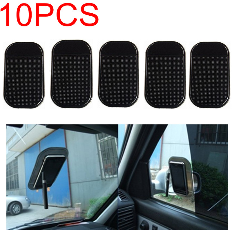 10pcs lot Free Shipping font b Car b font Use Black Anti Slip Mat Silicon Gel