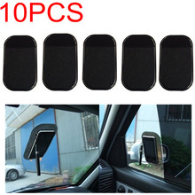 10pcs/lot Free Shipping Car Use Black Anti Slip Mat Silicon Gel Sticky Pad For Phone GPS PDA MP3 MP4
