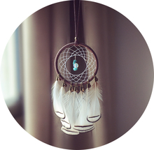 Handmade Dream Catcher with feathers and Jingle Bells Colorful Feather Home Car Hanging Decoration Gift Free Shipping