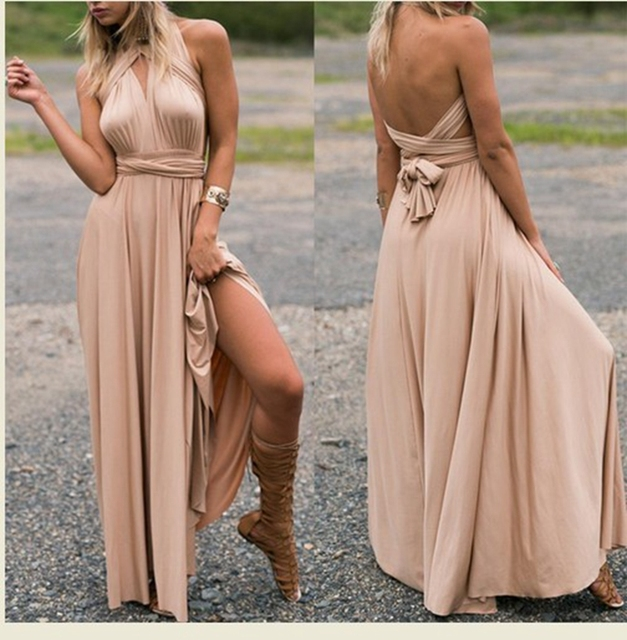 Maternity Dresses Summer Long Maxi Convertible Wrap Gown Dress ...