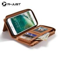 I7 7 plus skórzane etui, Najwyższej jakości Mody Portfel telefon shell pokrywa dla iphone 7 ipone 7 plus skórzane przypadku