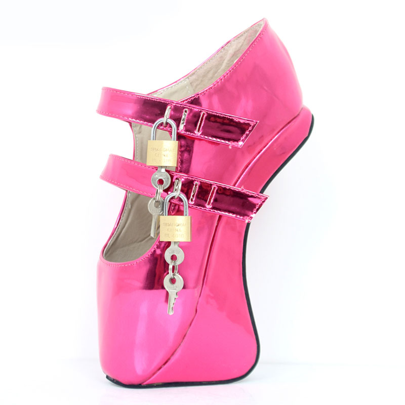 Sexy Queen High-heeled Shoes Woman Strange Style Heels Ballet Shoes Lock Game Night Club Pumps Plus Size Plataformas Mujer Ladie queen s club championships wednesday