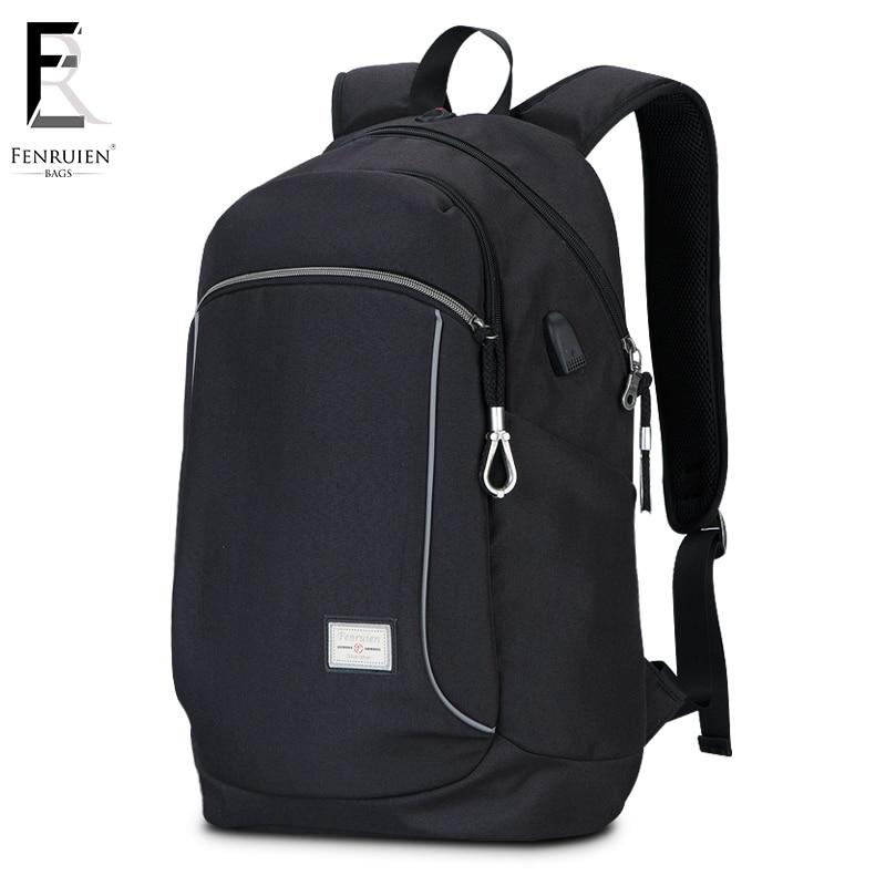 FRN Laptop Backpack Men Casual Travel Bags 2018 Multifunction Rucksack Waterproof Black Computer Backpack For Teenager