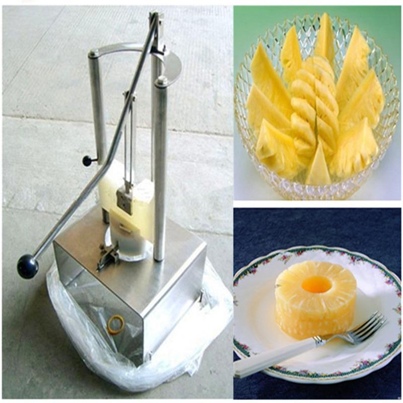 Pineapple barrel peeling coring machine pineapple peeler corer stainless steel manual pineapple cutting machine ZF