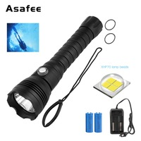 XHP70.2 LED Diving Flashlight Tactical 26650 Torch White Light 4000 Lumen Underwater 100M Waterproof XHP70 dive lamp torch