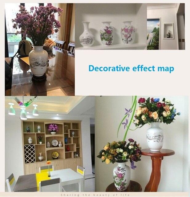 OUSSIRRO Jingdezhen Ceramic Vases Pottery Decoration Living Room Flower Arrangement Modern Home Simple TV Cabinet  Ceramic Gift 4