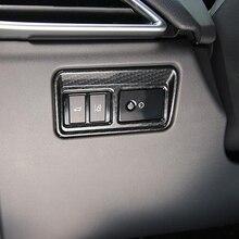 ABS Chrome Задняя дверь переключатель Управление Кнопка Панель крышка отделка автомобиль-Стайлинг для Jaguar XF XE XFL F-PACE 2016 2017 2018 аксессуары