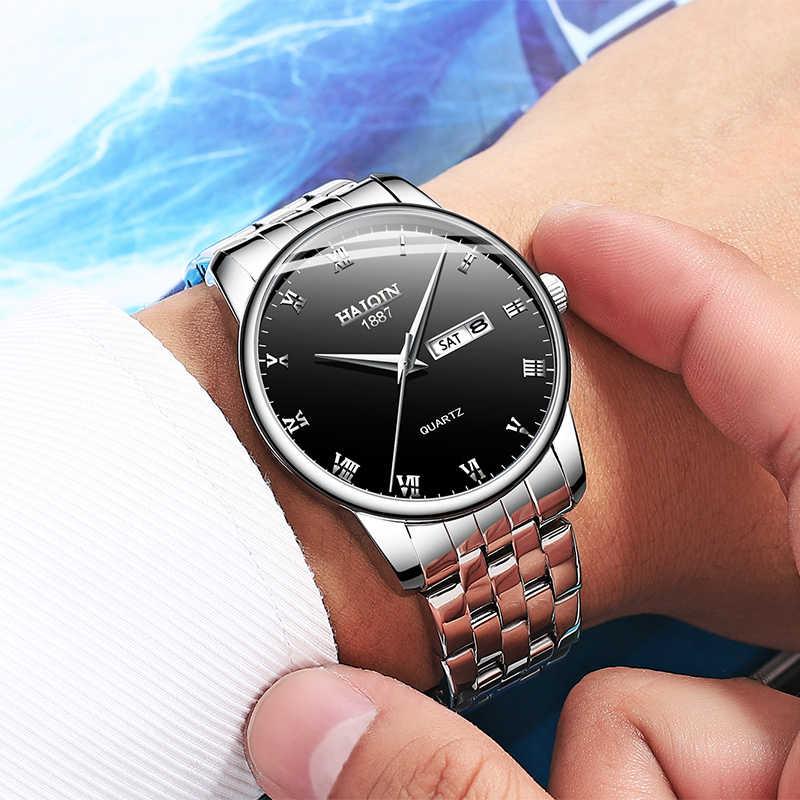 9769148692ae ... HAIQIN Gold Men s watches Fashion Mens watches top brand luxury Sport  Military quartz wrist watch men ...