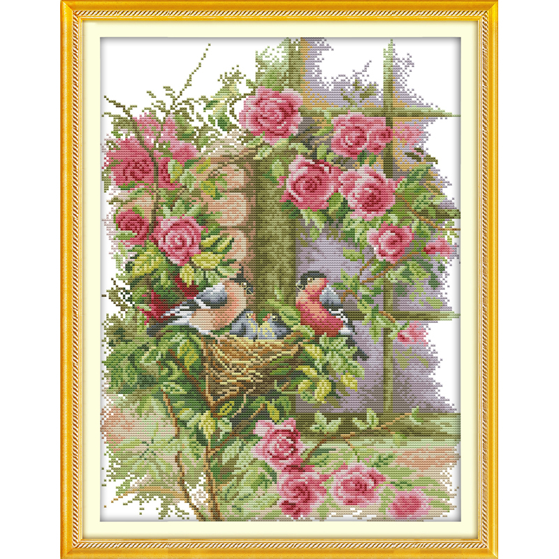 Everlasting love Christmas Happy family Chinese cross stitch kits Ecological cotton stamped 11CT 14CT New store sales promotion