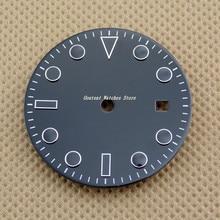 28.5 มม./31.5 มม.Sterile Black DialชุดMingzhu 2813/3804,Miyota 82 Seriesนาฬิกาอุปกรณ์เสริม