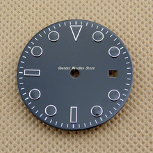 Kit de cadran noir stérile 28.5mm/31.5mm, accessoire de montre de mouvement miotta série 82 Mingzhu 2813/3804
