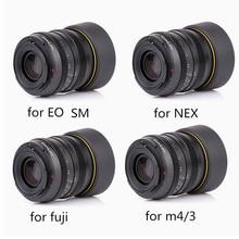 Kamlan Lens 50 Mm F1.1 APS C Grote Diafragma Handmatige Focus Lens Voor Canon EOS M Nex Fuji X M4/3 camera S Met Zonnekap