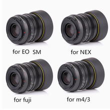 Kamlan lens 50mm F1.1 APS C büyük diyafram manuel odak canon lensi EOS M NEX Fuji M4/3 kameralar ile lens Hood