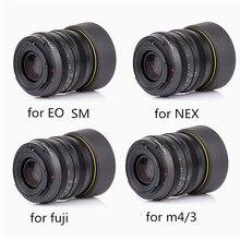 Objectif Kamlan 50mm F1.1 APS C objectif de mise au point manuelle à grande ouverture pour Canon EOS M NEX Fuji X M4/3 caméras avec pare soleil