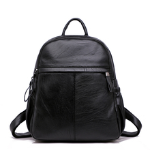High Quality Fashion Leisure Women's PU Leather Backpacks Female School Shoulder Bags for Teenage Girls Women Travel Backpacks high quality leisure women backpack pu leather chest shoulder bags for teenage girls travel school back pack fashion 2019 new