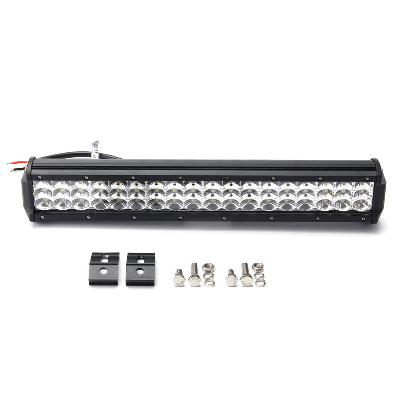 17Inch 162W 54LED Tri Row Work Light Bar Spot Flood Combo For SUV For JEEP DC10-30V 6000K Waterproof IP68 1pcs 120w 12 12v 24v led light bar spot flood combo beam led work light offroad led driving lamp for suv atv utv wagon 4wd 4x4