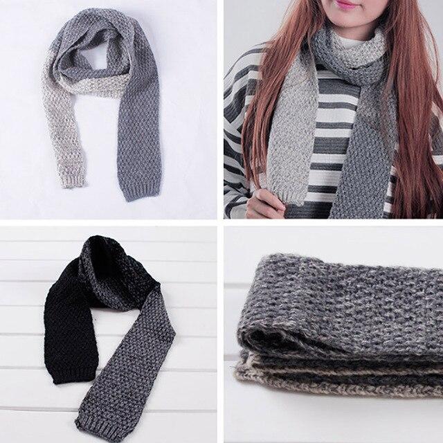 Мода шарфы люксовый бренд хиджаб весна и осень Сращивание цвет шерстяной пряжи шарф любителей шарф узкий воротник