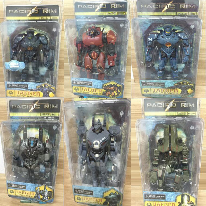 NECA  6 Styles Movie Pacific Rim Action Figures Jaeger Mech Crimson Typhoon Gipsy Danger Coyote Tango