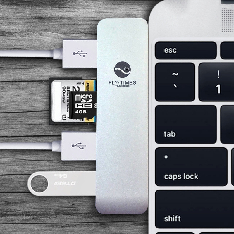 Aluminium USB Type C Hub USB 3.0  5 in 1 Type C USB Hub TF/SD Card Reader, 3 USB 3.0 Ports 668 usb 3 1 type c card reader