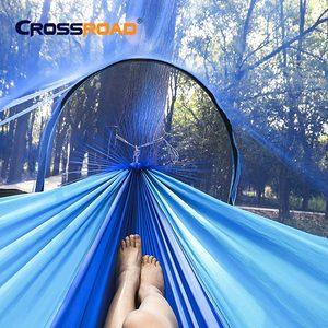 Image 2 - 이동식 야외 캠핑 해먹 모기장 1 2 사람 낙하산 정원 스윙 교수형 의자 더블 슬리핑 침대 휴대용