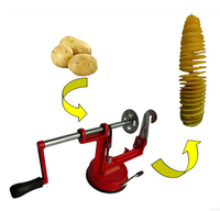 2016 Kitchen Tools Time limited Metal Cocina Kitchen Gadgets Multifunctional Potato Machine Slicer Manual Rotary Chips Cutting