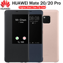 HUAWEI MATE 20 Pro Case Original 100% Official Smart View Protection Cover HUAWEI MATE 20 Case Window Flip Leather Mate 20 Cover(China)