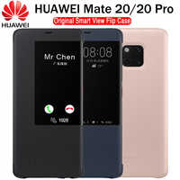 HUAWEI MATE 20 Pro Case Original 100% Official Smart View Protection Cover HUAWEI MATE 20 Case Window Flip Leather Mate 20 Cover