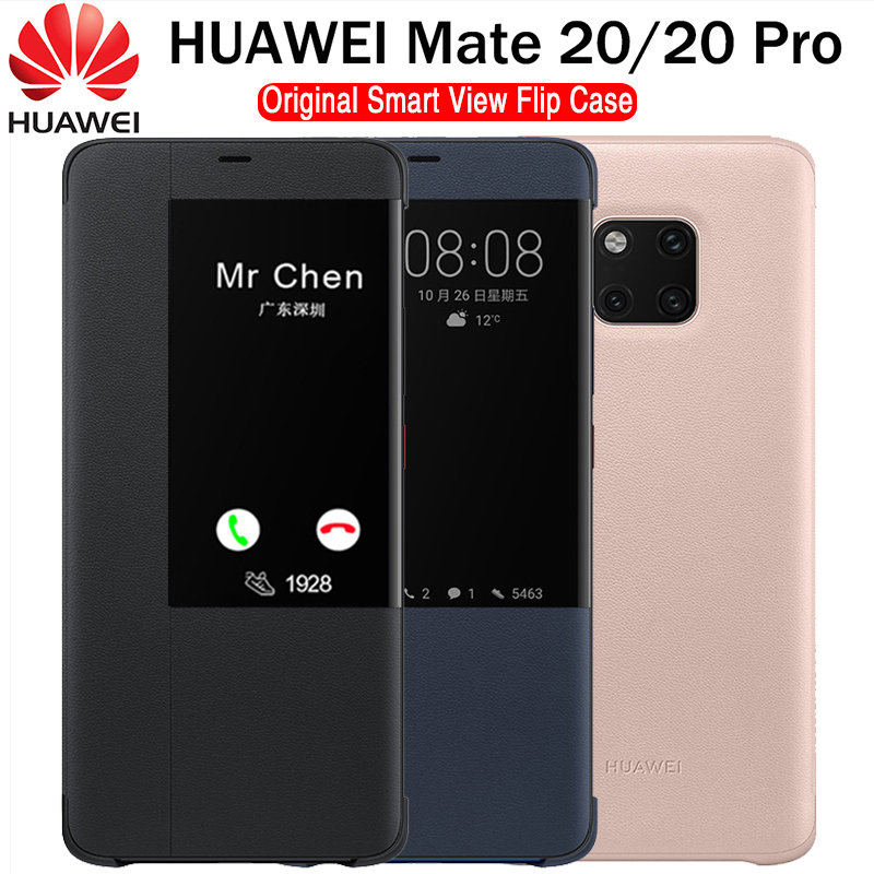 Huawei companheiro 20 pro caso original 100% oficial smart view proteção capa huawei companheiro 20 caso janela flip couro mate 20 capa