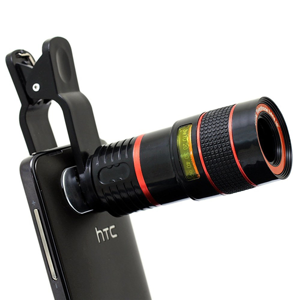 Special Design 8X Zoom Phone Telephoto Camera Lens with Clip Universal for iPhone Samsung HTC Smart Phone CL-19B