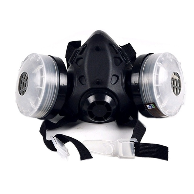 Half Face Gas Mask With Anti-fog Glasses N95 Chemical Dust Mask Filter Breathing Respirators for Painting Spray Welding 2
