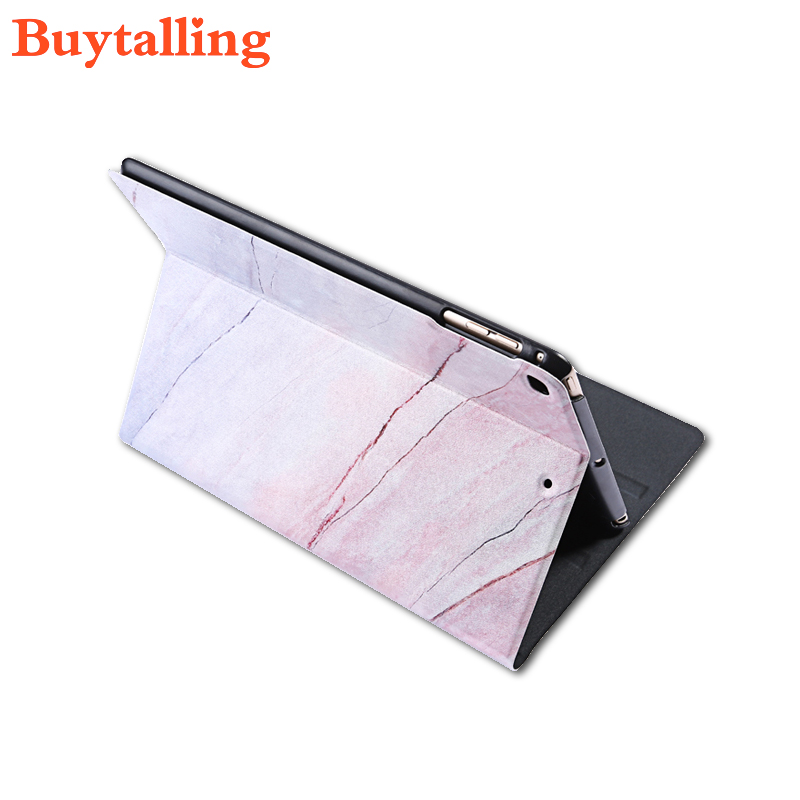 Marble Grain PU Case for iPad Pro 9.7 Leather Flip Cover For iPad Air2 Mini 1 2 3 4 Tablet Case Shell for iPad2 3 4 For iPad wood grain pu leather tablet cover for apple ipad air 1 ipad 5 stand case for ipad air 2 ipad 6 screen protector stylus pen