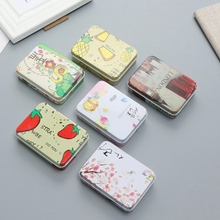 Colorful Mini Tin Box Sealed Packing Boxes Jewelry Candy Small Storage Coin Earrings Headphones Gift Box(China)